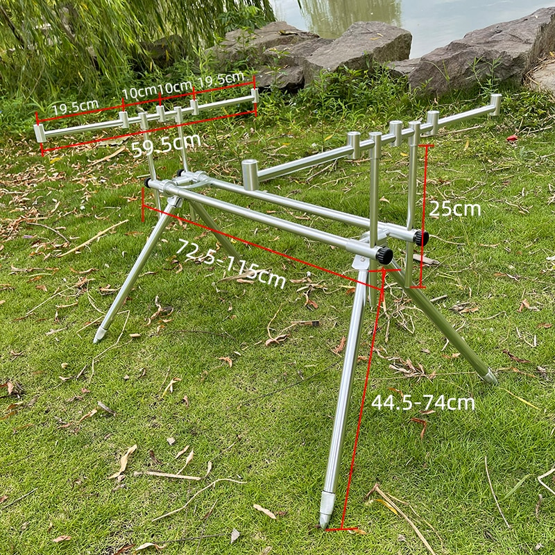 Aluminum Carp Fishing Rod Pod 4 Feet Adjustable Pole Stand Holder Foldable Fishing Pole Pod Stand Tackle Fishing Alarms Tools enlarge