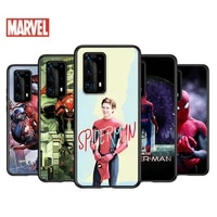 soft tpu cover cool marvel spiderman art for huawei p40 p30 p20 pro p10 p9 p8 lite ru e mini plus 2019 2017 black phone case