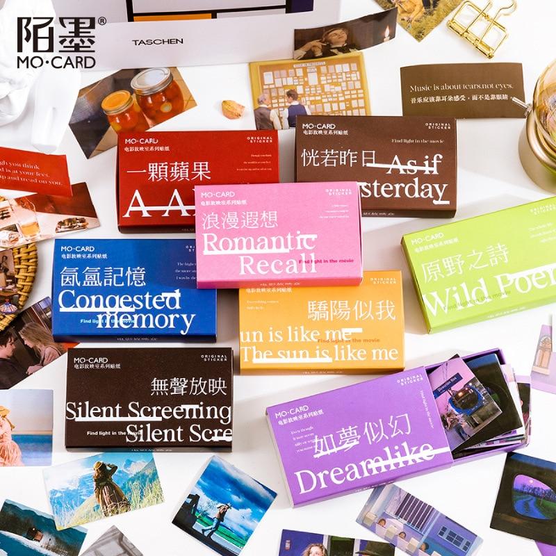 60 листов/упаковка, наклейки-шкатулки для фильмов