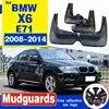 OEM מנוסח בוץ דש FIT עבור BMW X6 E71 2008 2009 2010 2011 2012-2014 בוץ המדפים SPLASH GUARD קדמי אחורי פגוש אביזרי יצוק