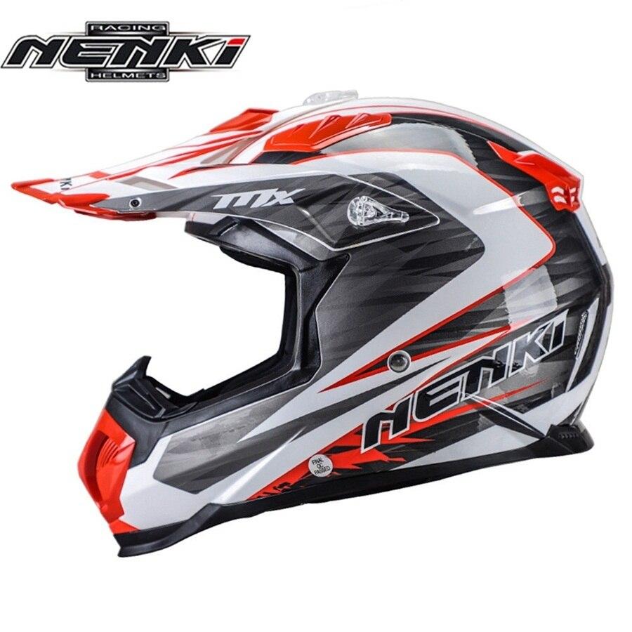 Casco de Motocross NENKI todoterreno, casco de Motocross para adultos, gafas multicolores de descenso MTB ATV, cascos de moto cruzada de carreras