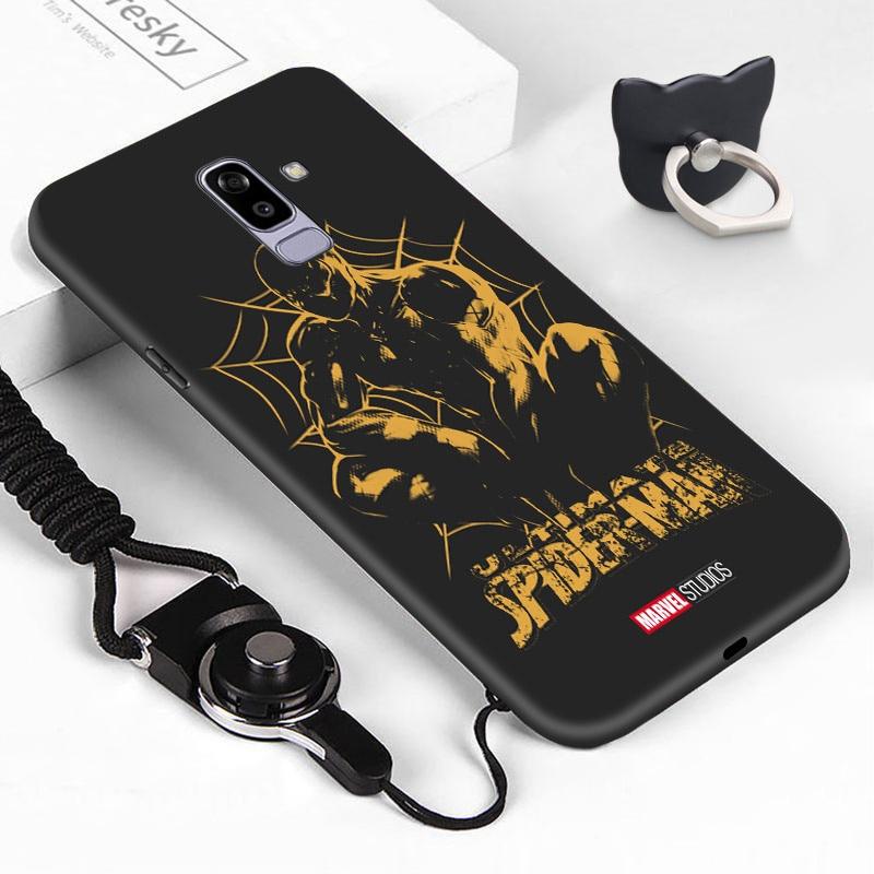 Para samsung galaxy j6 plus 2018 j7 pro à prova de choque retro caso marvel ironman spiderman embalagem tpu macio silicone telefone capa