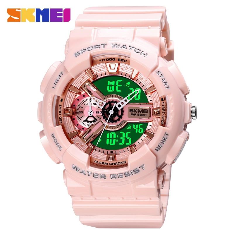 SKMEI LED Display Watch Men's Watch Digital Waterproof Clock Dual time Male Wristwatch Stopwatch Alarm military Sports relojes