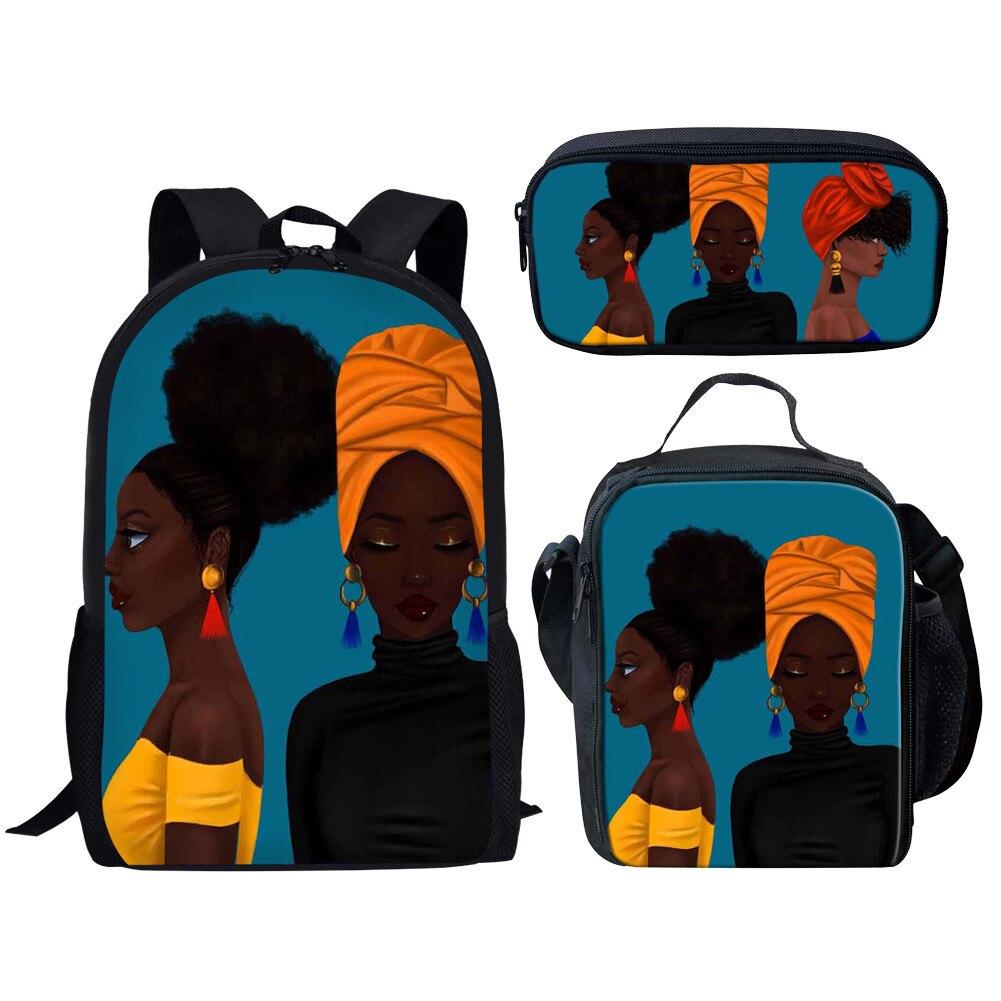 Черные художественные рюкзаки для девочек и мальчиков-подростков, школьный рюкзак, Детская сумка для книг, женские школьные рюкзаки в стиле...