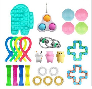 Fidget Toys Anti Stress Toy Set Stretchy Strings  Autism Anxiety Relief Stress Pop Bubble Fidget Sensory Toy For Kids Adults enlarge