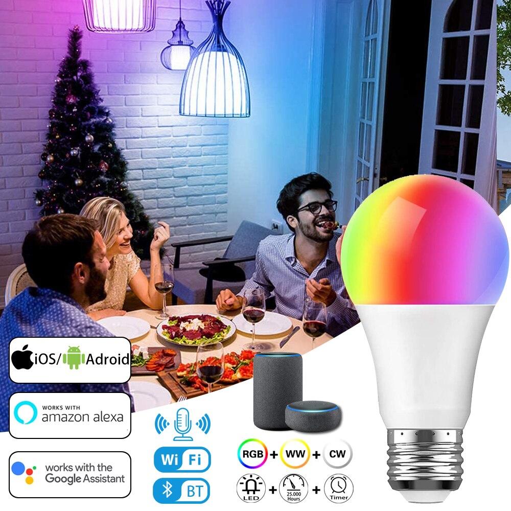 5-20w RGBW Luces LED lámpara con bombilla de luz E27 RGB LED...
