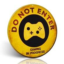 Do Not Enter Xbox Gaming in Progress Retro Rustic Novelty Metal indoor Sign