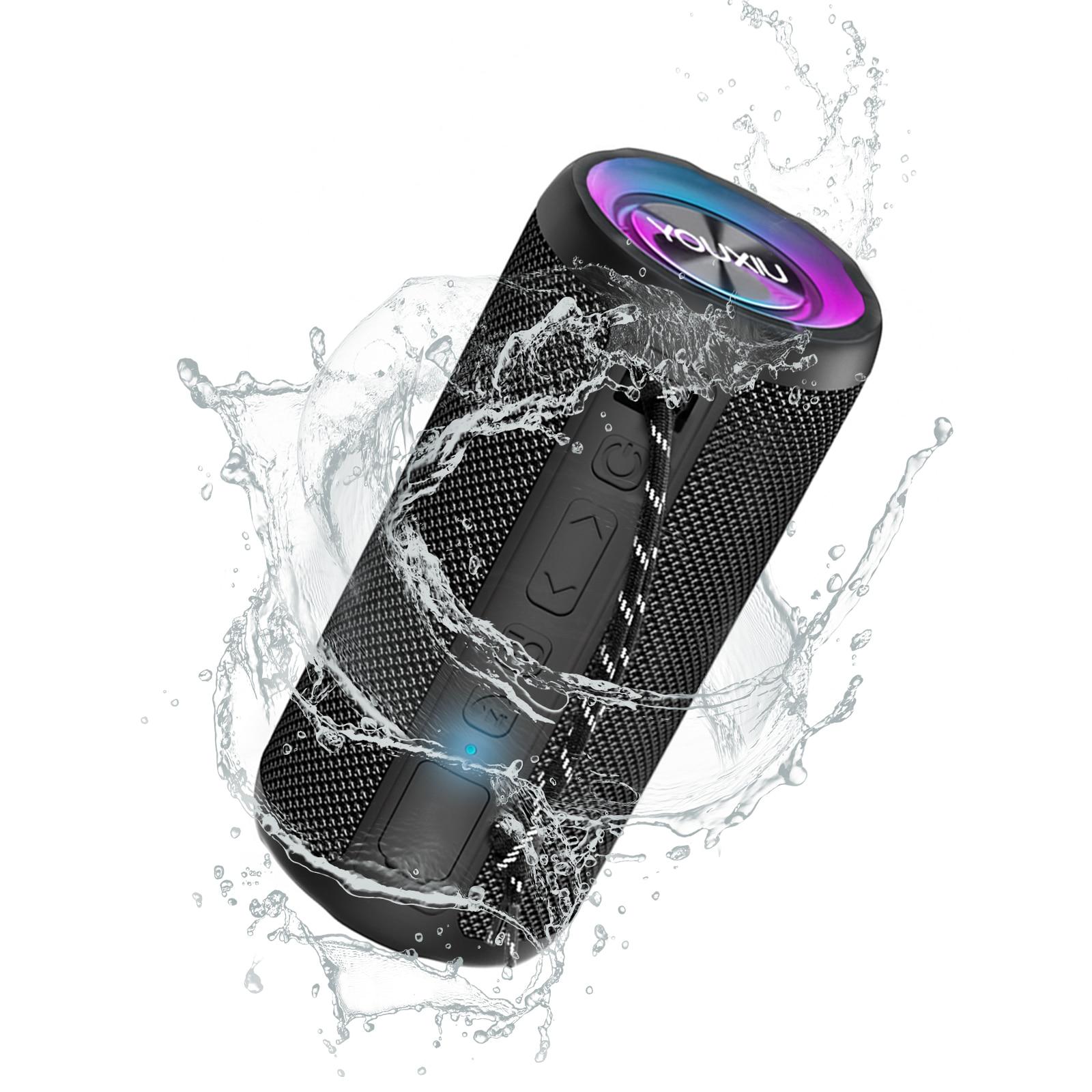 YOUXIU-مكبر صوت محمول ، لاسلكي ، بلوتوث ، 20 واط ، IPX7 ، مقاوم للماء ، عمر بطارية 20 ساعة ، مضخم صوت ستيريو TWS ، صوت خارجي