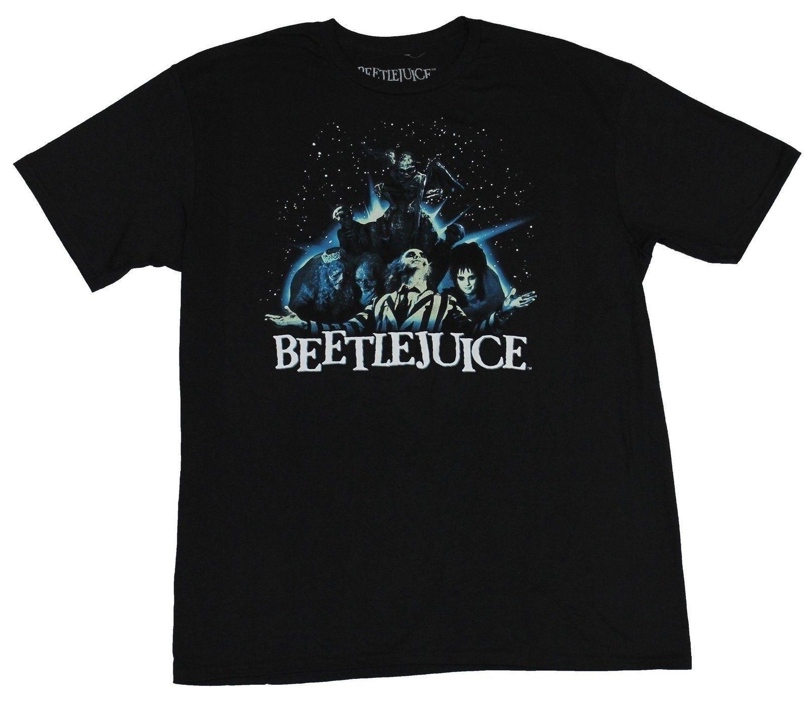 Beetlejuice camiseta para hombre-Open Arms Spacey Group Shot Image Cartoon camiseta hombres Unisex nueva camiseta de moda envío gratis