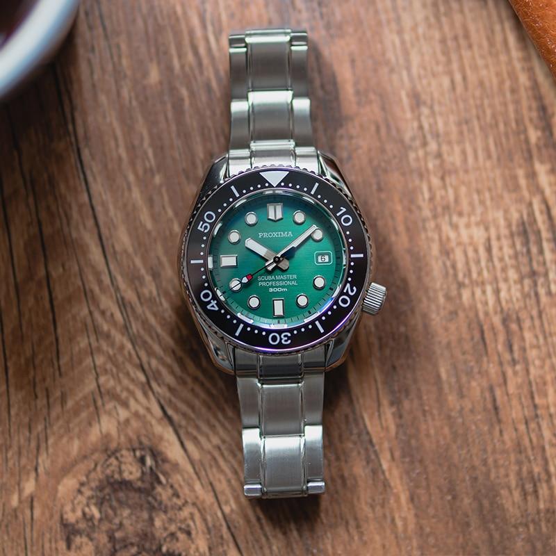 ساعة يد رجالية مقاومة للماء من الفولاذ المقاوم للصدأ ، ماركة فاخرة ، SW200 ، الياقوت ، الغوص ، 2021