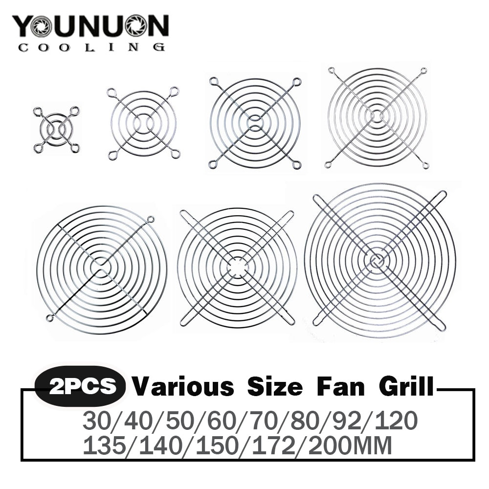 2PCS Cooling Fan Guard Metal Grill Computer Cover Fan Grill 30mm 40mm 50mm 60mm 70mm 80mm 90mm 120mm 135mm 140mm 170mm 200mm