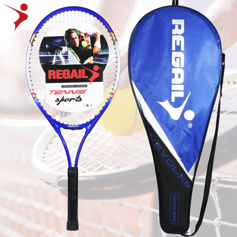 1PCS Aluminum Alloy Tennis Racket Feather String Nylon Network Cable 16Horizontal Strings Weight 305g 67X28CM Primary Training