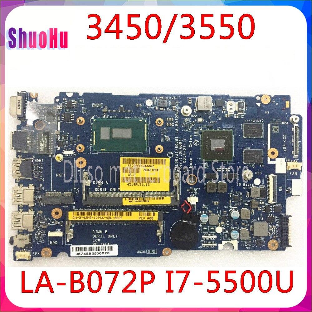 KEFU LA-B072P لديل Latitude 3450 3550 اللوحة DDR3 HM76 انسبايرون I7-5500U إنتل المتكاملة 60 يوما
