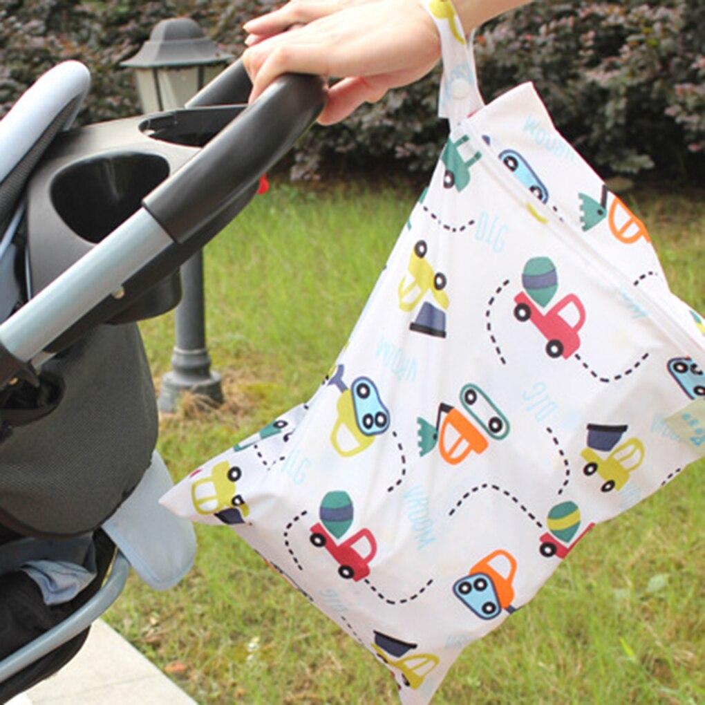 Bolsa húmeda reutilizable impermeable bolsas de pañales de bolsillo impresas bolsas de viaje húmedas secas Mini bolsa de pañales