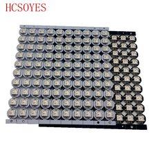10 ~ 100 Uds WS2812B LED direccionable individualmente WS2811 IC rgb blanco/Negro 2812b led disipador de calor (10mm * 3mm) SMD 5050 RGB integrado