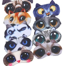 1pc 3D Soft Cute Cartoon Animal Eye Mask Shade Cover Massage Relaxing Sleeping Aid Blindfold Portable Travel Rest Sleep Eyepatch