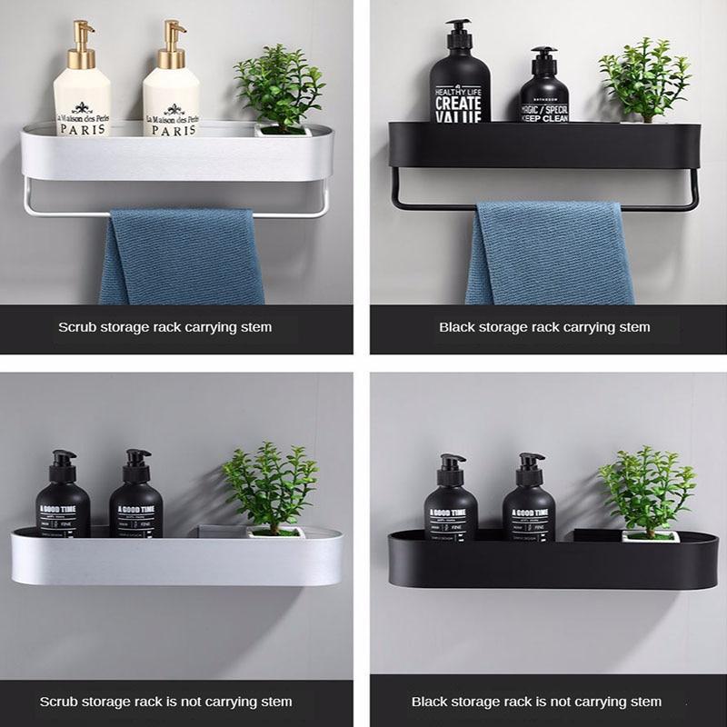 الحائط حامل منشفة رف للحمام 30-50 سنتيمتر طول رفوف المطبخ سلة تخزين الرف منشفة بار اكسسوارات الحمام