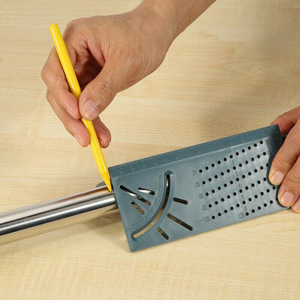 Trabajo de la madera escriba Mark línea de T-Tipo de regla cuadrado diseño 3D Mitra ángulo de 90 grados de medir carpintero medida herramienta