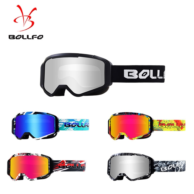Motocross ATV Glasses Off Road Dirtbike Powersports Eyewear Safety Goggles for Downhill Racing Skiing Scratch Resistant Glasses 1x silver vintage motocross goggles anti uv scooter motorcycle glasses atv skiing cycling off road eyewear sunglasses brown lens