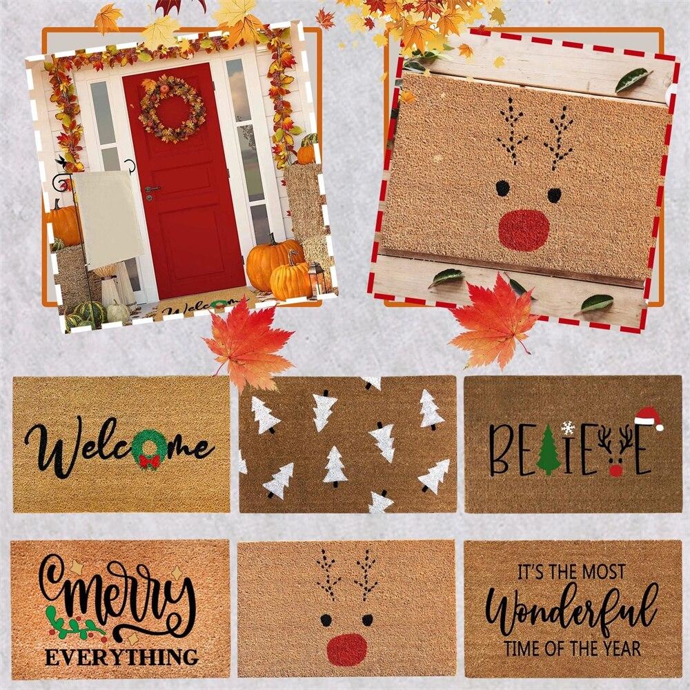 40x60 см Рождественский дверной коврик, входные Придверные коврики, искусственная кухня, современное персонализированное украшение передней...