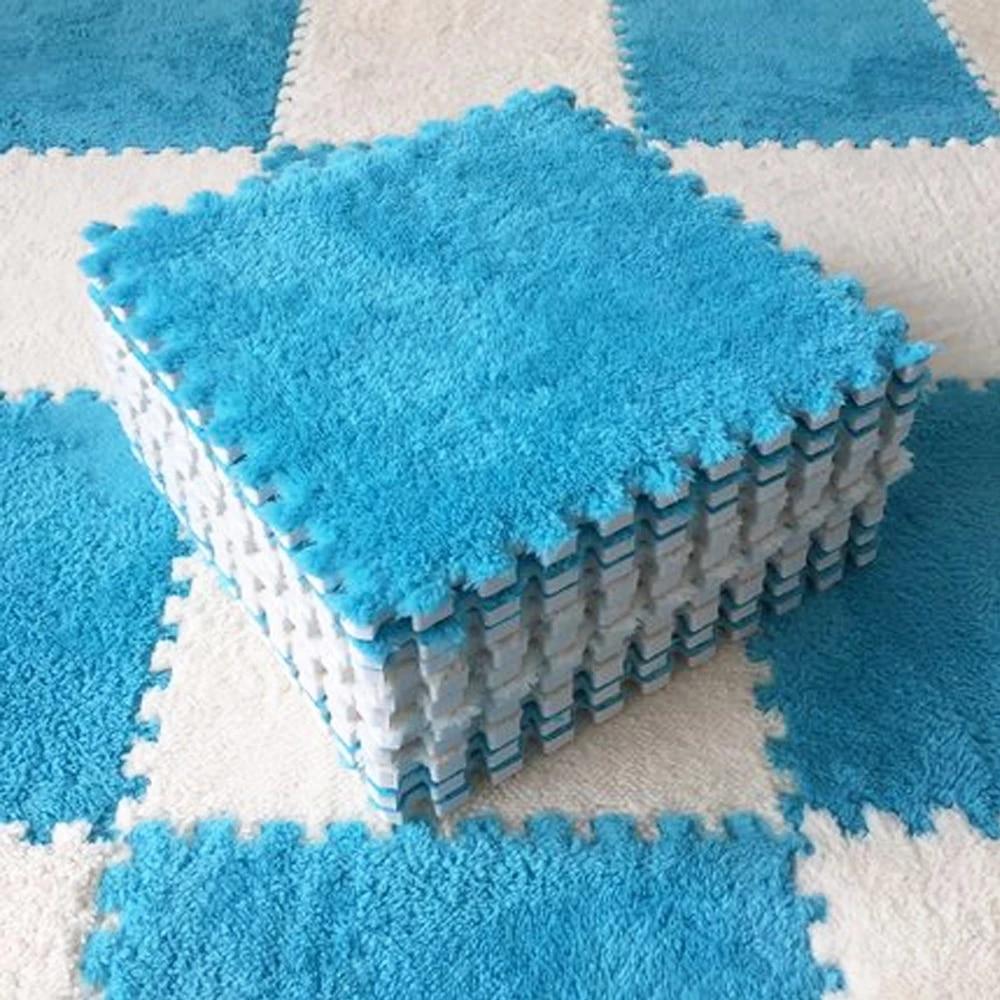 10 Pcs/lot Plush Children's Mat Baby Puzzles Playmats Infant Carpet Eva Foam Kids Rug Baby Playing Mat Keep Warm Mat 30*30*0.6cm