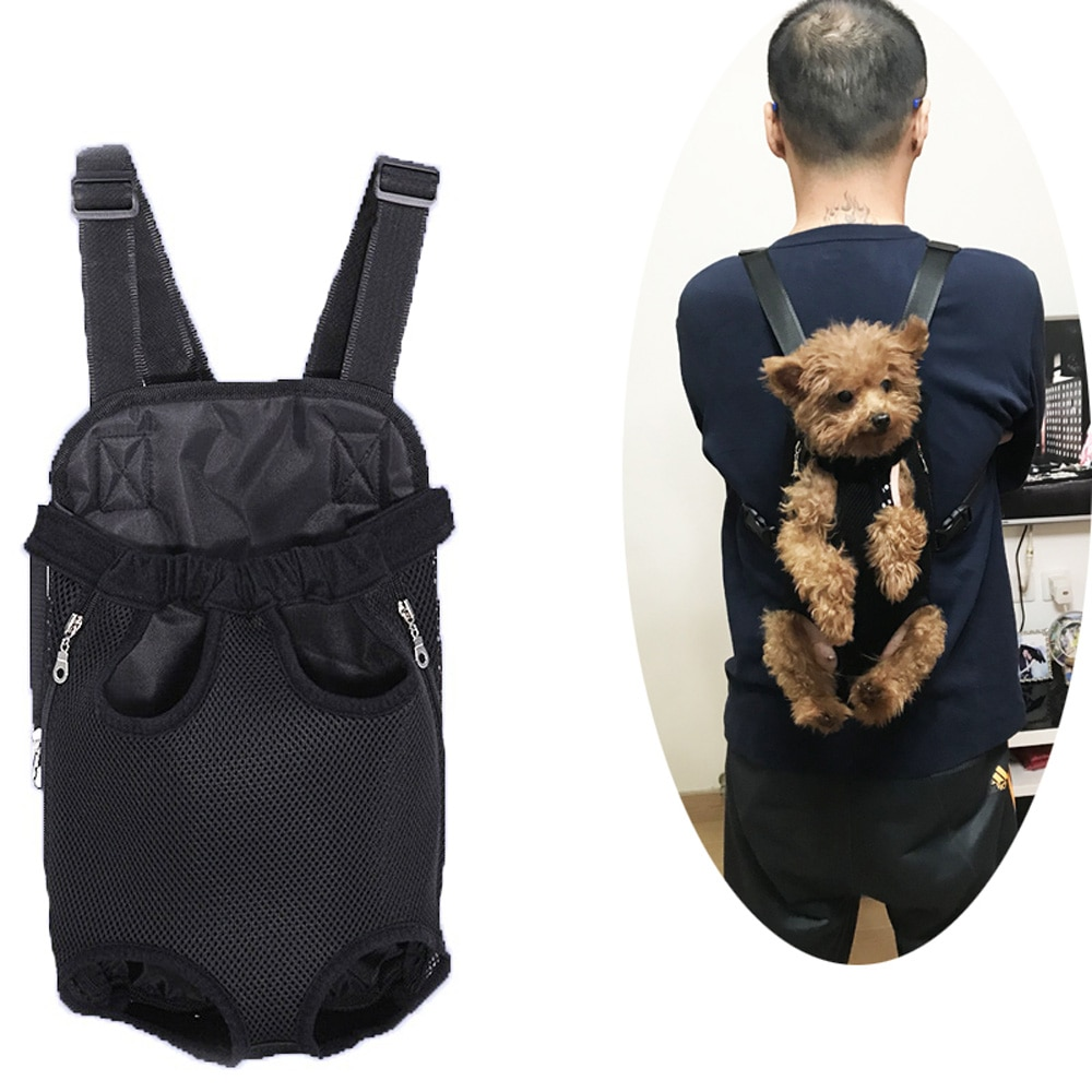 Pet Carry Adjustable Dog Backpack Kangaroo Breathable Front Puppy Dog Carrier Bag Pet Carrying Travel Legs Out Carrier For Cats