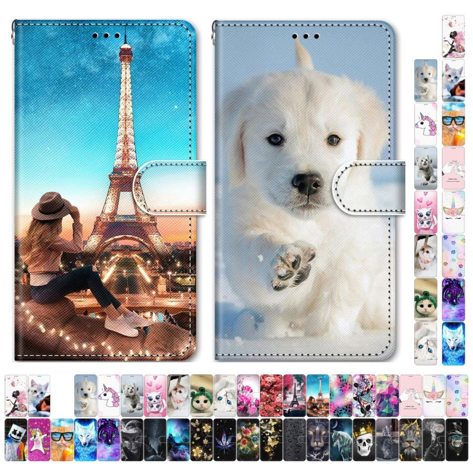 Boys Girls Kids Lovely Phone Bags For Case Samsung Galaxy J6 Plus 2018 J530 J510 J5 2017 2016 Animal Flower Tower Dog Cat D08F