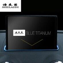 Autocollants de protection de voiture pour Audi A3 8V S3 Navigation   Cadre décoratif, bande autocollante à paillettes en acier inoxydable, accessoires pour lintérieur de lautomobile
