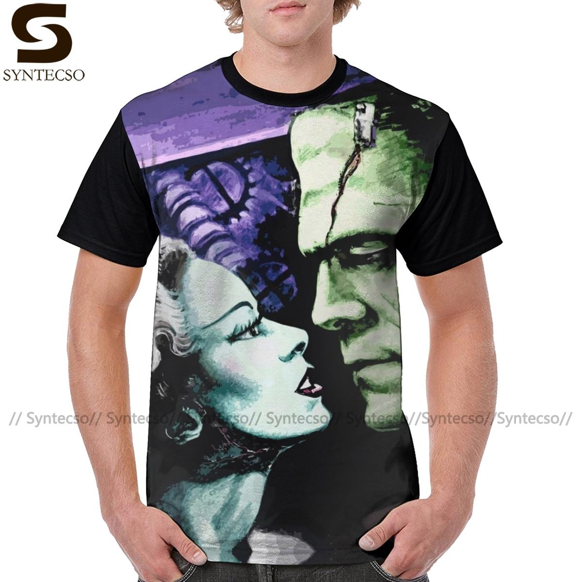 Dracula T Hemd Braut Frankie Monsters In Liebe T-Shirt Polyester XXX T Hemd Männlich Lustige Grafik T-shirt