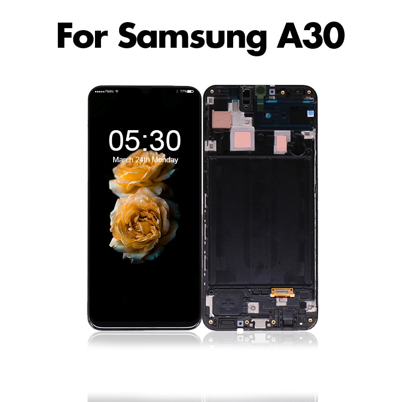 Applicable to Samsung  A30 A40 A50 A70 mobile phone LCD display screen digitizer assembly LCD enlarge