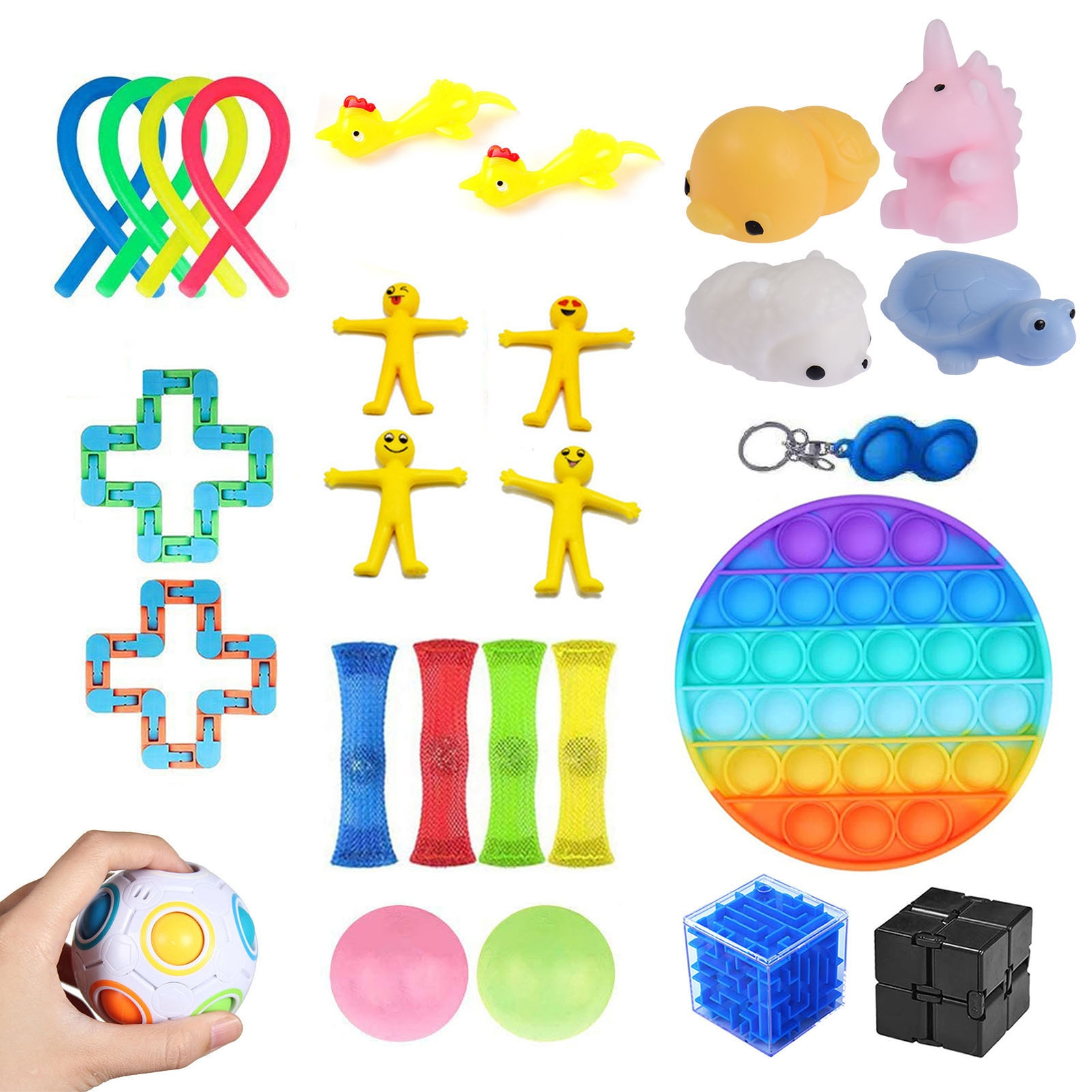 27 Pcs Durable Sensory Fidget Toys Set Stress Relief Anti-Anxiety Sensory Toys For Children Adults ADHD enlarge