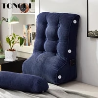 tongdi home soft large pillow back cushion long elastic linen backrest multifunction luxury decor for bedside bed sofa tatami