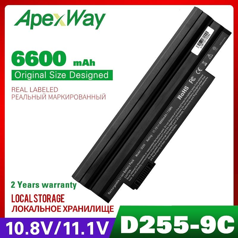 6600mAh batería del ordenador portátil para ACER Aspire 722 AO532h AO722 AOD255 D255 D255E feliz happy2 para GATEWAY LT23 LT25 LT27 LT28 LT40