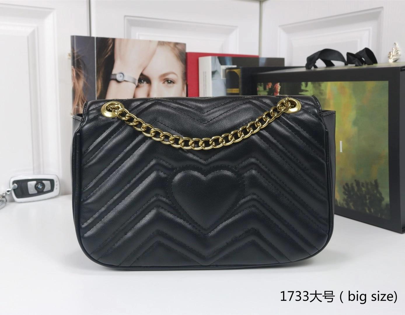 2021 Fashion Women V-line Crossbody Bag A Main Female Flap Shoulder V Bags Chain Bag Soft G&G Leather Handbag Lock Purses