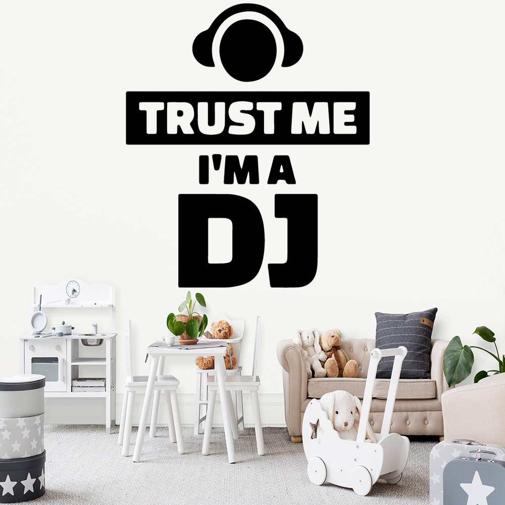 Dibujos Animados I'm a DJ decoración del hogar Accesorios para habitaciones de...