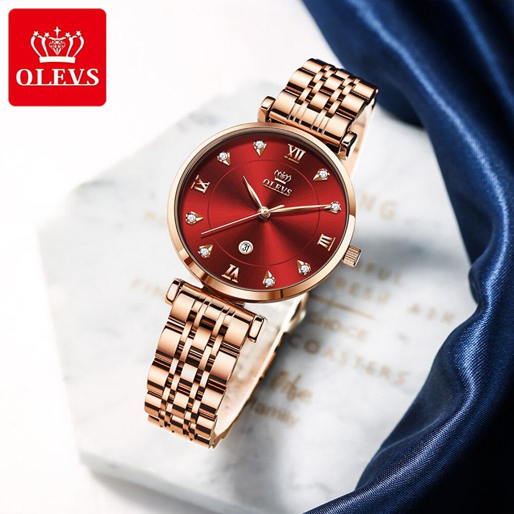 OLEVS Women's Watch Luxury Brand Fashion New Stainless Steel Wristwatch Calendar Waterproof Watch Women Gift Relojes enlarge