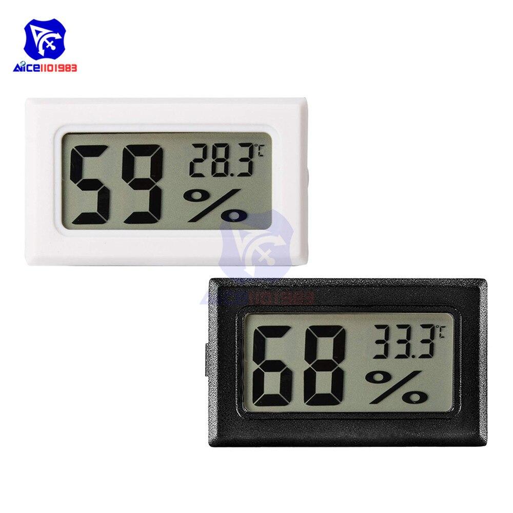 Diymore Мини ЖК цифровой измеритель температуры и влажности 10%-99% RH -50 ℃ -60 ℃ термометр гигрометр для теплицы/дома