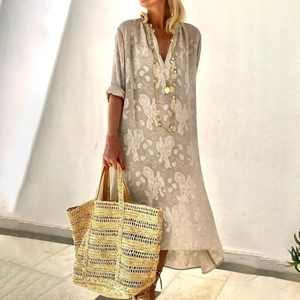 cami velvet vintage loose dress Dress  Vintage Loose Solid Color Long Sleeve Dress Autumn Long Sleeve Dress Loose   Streetwear