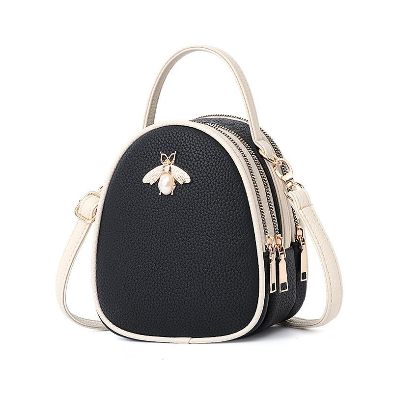Luxury Handbags Women Bags Designer Ladies' Pu Leather Shoulder Bag for Women 2021 Fashion Bee Decoration Famous Brands Tote