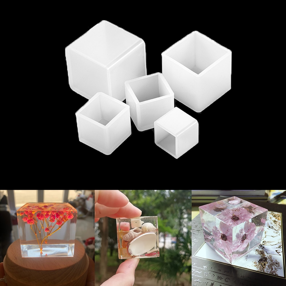 AliExpress - 2cm-5cm Epoxy Resin Molds Transparent Silicone Square Mold For DIY Jewelry Making Tools Making Resin Specimens