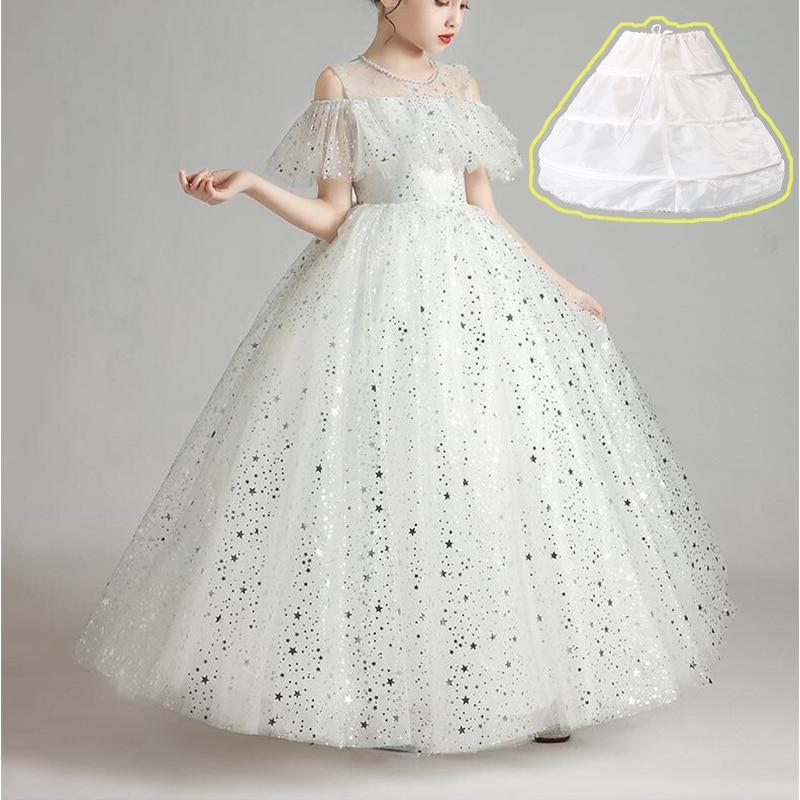 3 aros de acero para niños enagua blanca vestido de boda y...