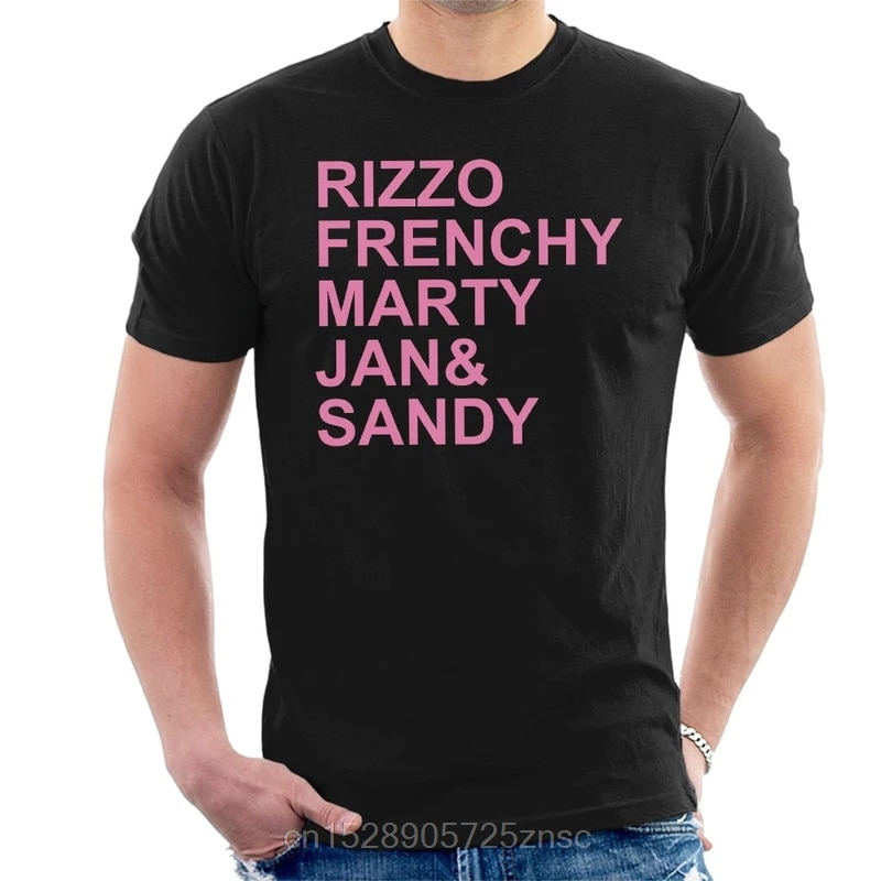 Printed funny 2020 camiseta Grease Pink Ladies Character Text Mens T-Shirt women camiseta