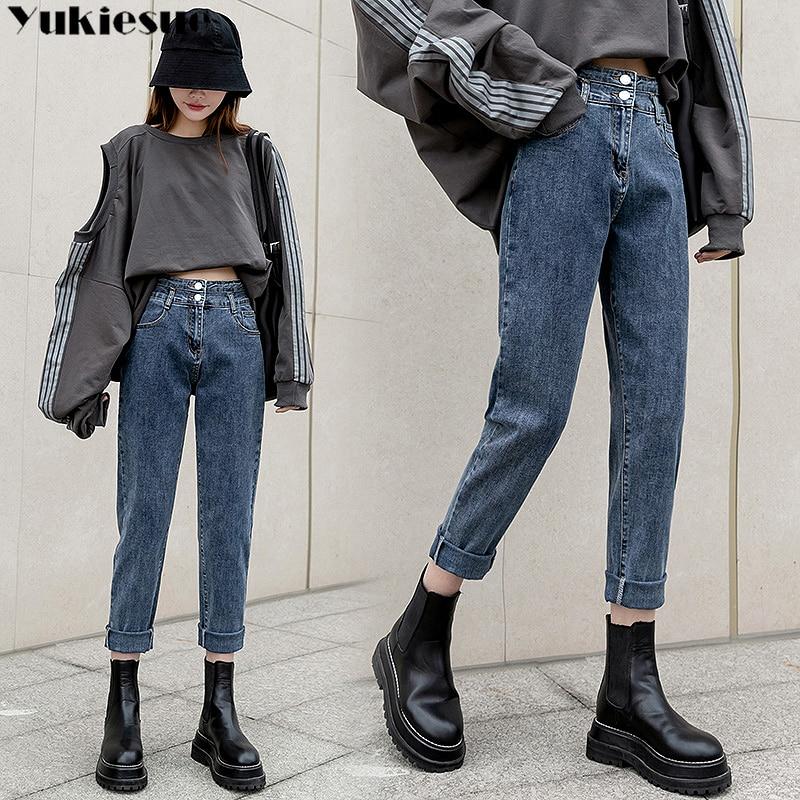2021 High Waist Mom Jeans Women Boyfriends Straight Jeans Femme Loose Vintage Denim pants Vaqueros Mujer Plus size 3XL