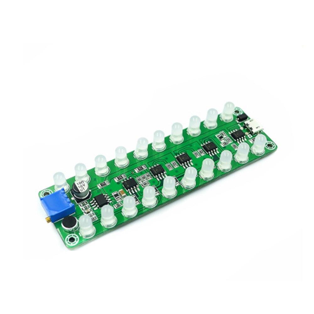 Amplificador de potência de indução de som espectro medidor de nível de áudio led indicação flash melodia luz áudio companheiro