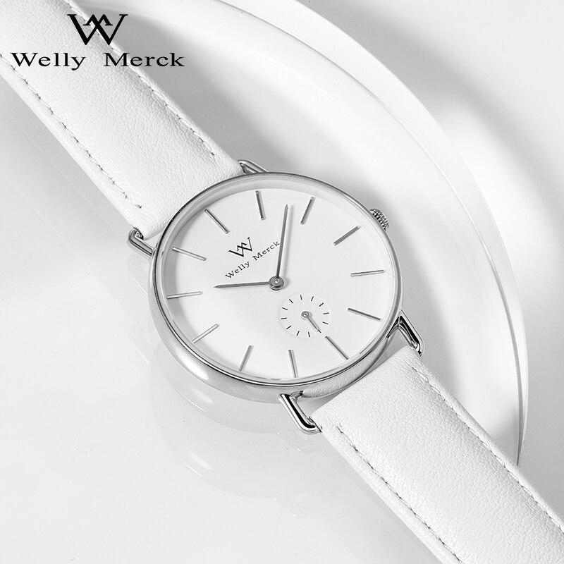 Welly Merck Swiss Quartz Movement High Quality 36mm Women Stainless Steel Case Waterproof Ladies Watch Relogio Feminino enlarge