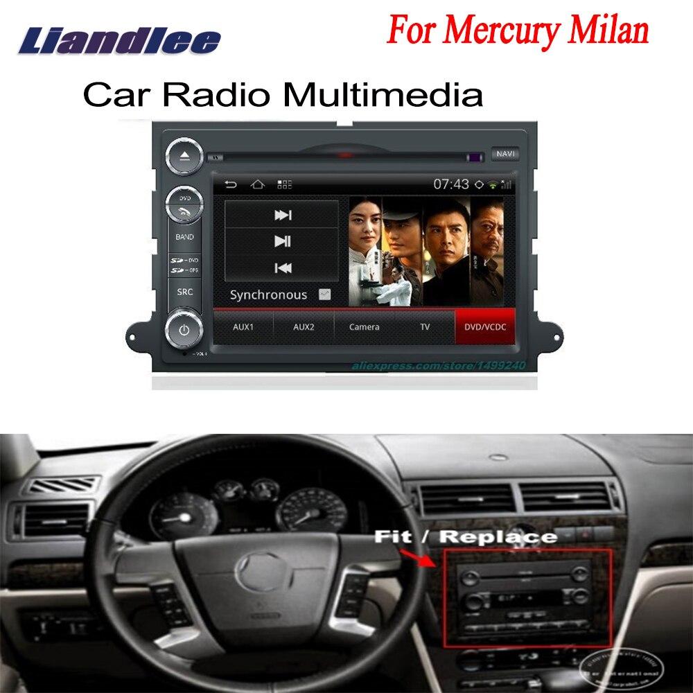 Araba Android GPS navigasyon için Mercury Milan 2004 ~ 2009 radyo TV DVD OYNATICI ses Video Stereo multimedya sistemi