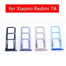 for Xiaomi Redmi 7A Card Tray Holder Micro SIM Nano SIM SD Card Card Slot Adapter Holder for Xiaomi Redmi 7A Repair Spare Parts