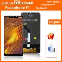 Оригинальный ЖК-дисплей 6,18 дюйма для Xiaomi Poco F1, ЖК-дисплей с сенсорным экраном и дигитайзером в сборе для Mi Pocophone F1, сменный ЖК-дисплей