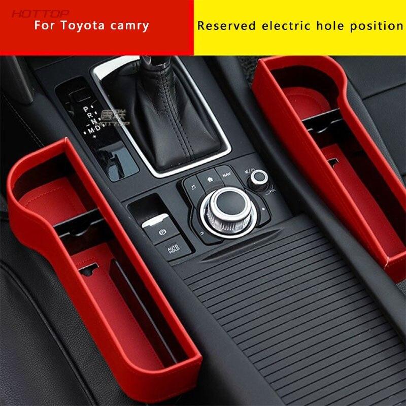 Storage Box Car Organizer Seat Gap PU Case Pocket Car Seat Side Slit For Toyota Camry 8th 2018 2019
