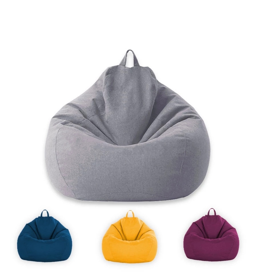 Indoor Leisure Lazy Cotton Bean Bag Cover Bean Bag Sofa Liner Cloth Bean Bag Without Filler Removable Washable Liner Cover